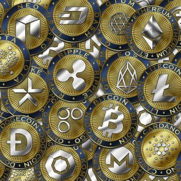 Monety kryptowalut głównie altcoin